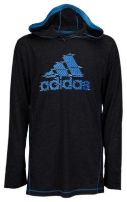 adidas climalite pullover hoodie - boysu0027 grade school YZYEYJB
