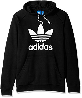 adidas clothing adidas originals menu0027s trefoil hoodie, black, x-small FLJSDIN