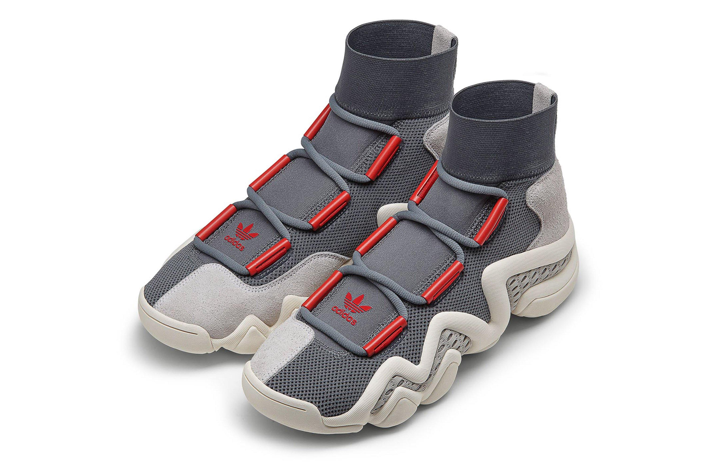 adidas crazy 8 adidas originals crazy 8 a//d - heather grey/power red AUYCZOV