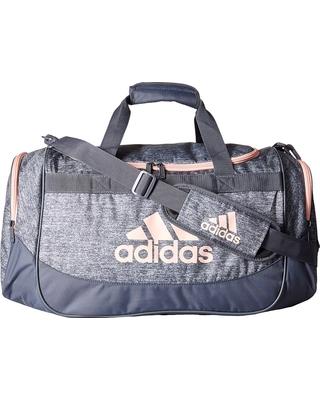 adidas duffle bag adidas - medium defense duffel (onix jersey/onix/haze coral) duffel bags JNLVGKU