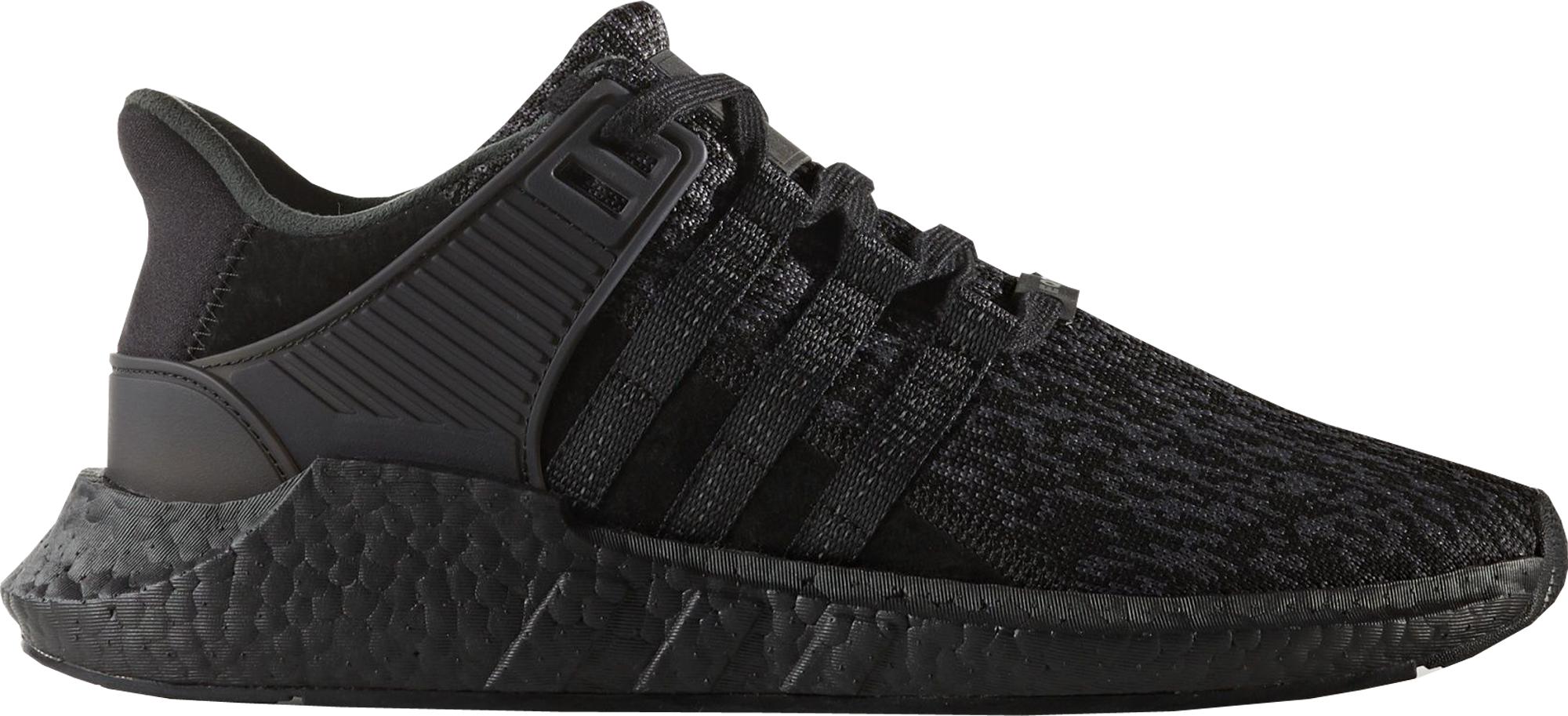 adidas eqt support 93/17 triple black EROQNQM