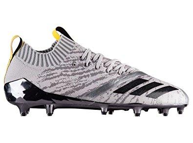adidas football cleats adidas adizero 5-star 7.0 primeknit football cleats (9, grey/core black AZMFFEX