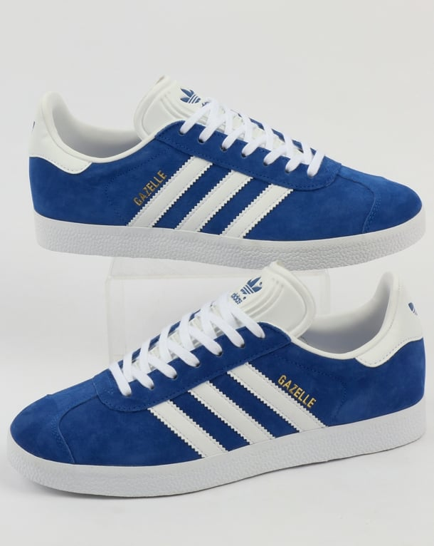 adidas gazelles adidas gazelle trainers royal blue/white QXYOZGD