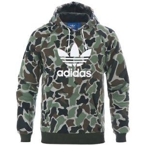 adidas jumper image is loading adidas-originals-camo-hoodie-multicolor-trefoil-logo-hoody- ZTSDUKR