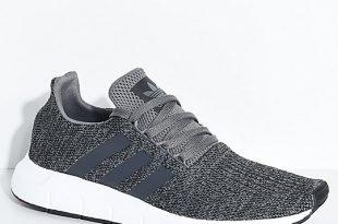 Adidas Mens Shoes adidas swift grey, black u0026 white shoes ... ZMVBRTO