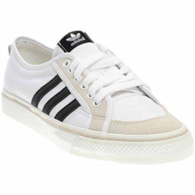 adidas nizza lo menu0027s canvas sneakers, white/black/white, ... OIHWNWU