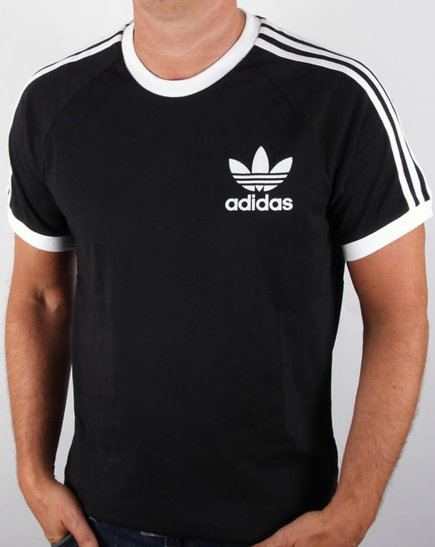 Adidas Originals T Shirt adidas originals retro 3 stripes t-shirt black SZNMAPF