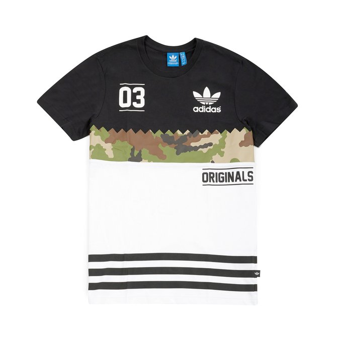 Adidas Originals T Shirt ... adidas originals - serrated t-shirt, white/hemp 1 ... CBQCHJF