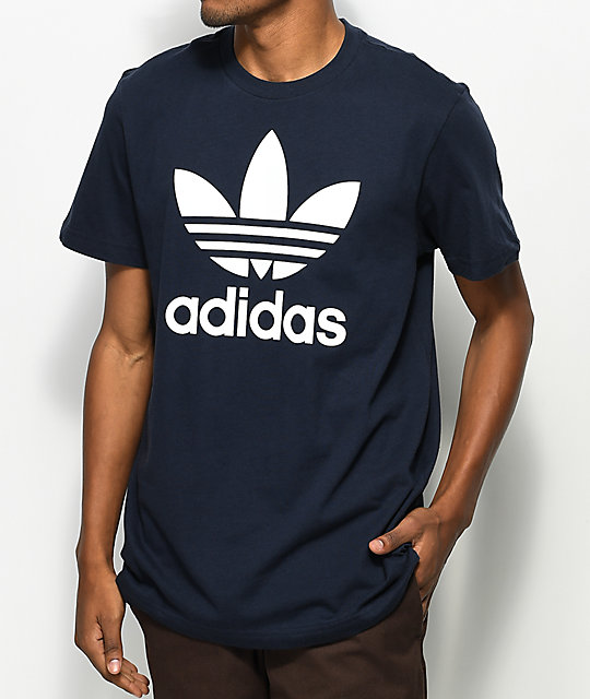 Adidas Originals T Shirt adidas originals trefoil legend ink navy t-shirt ... YDMTTLH