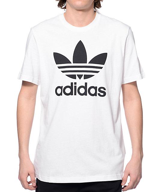 Adidas Originals T Shirt adidas originals trefoil white t-shirt ... DYFWQRP