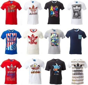 Adidas Originals T Shirt image is loading adidas-originals-men-tee-t-shirt-adidas-logo- CDNTYQU