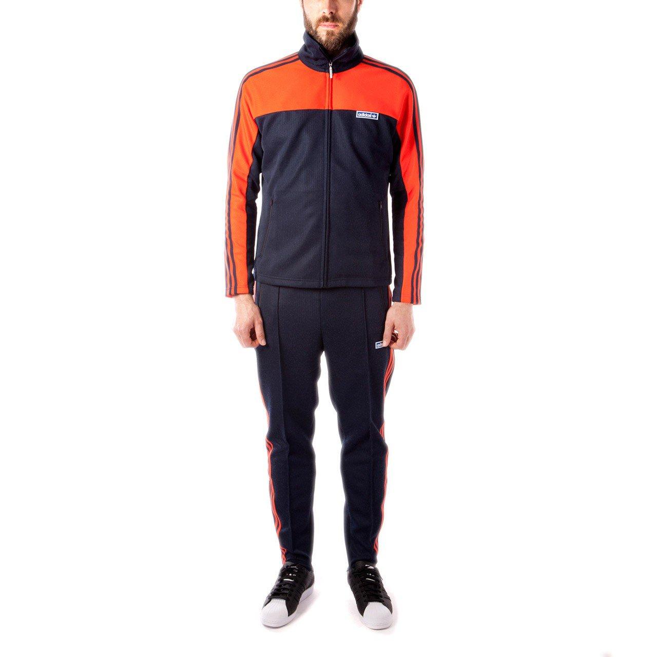 adidas originals tracksuit adidas originals og tracksuit (navy / orange) JYHJICV