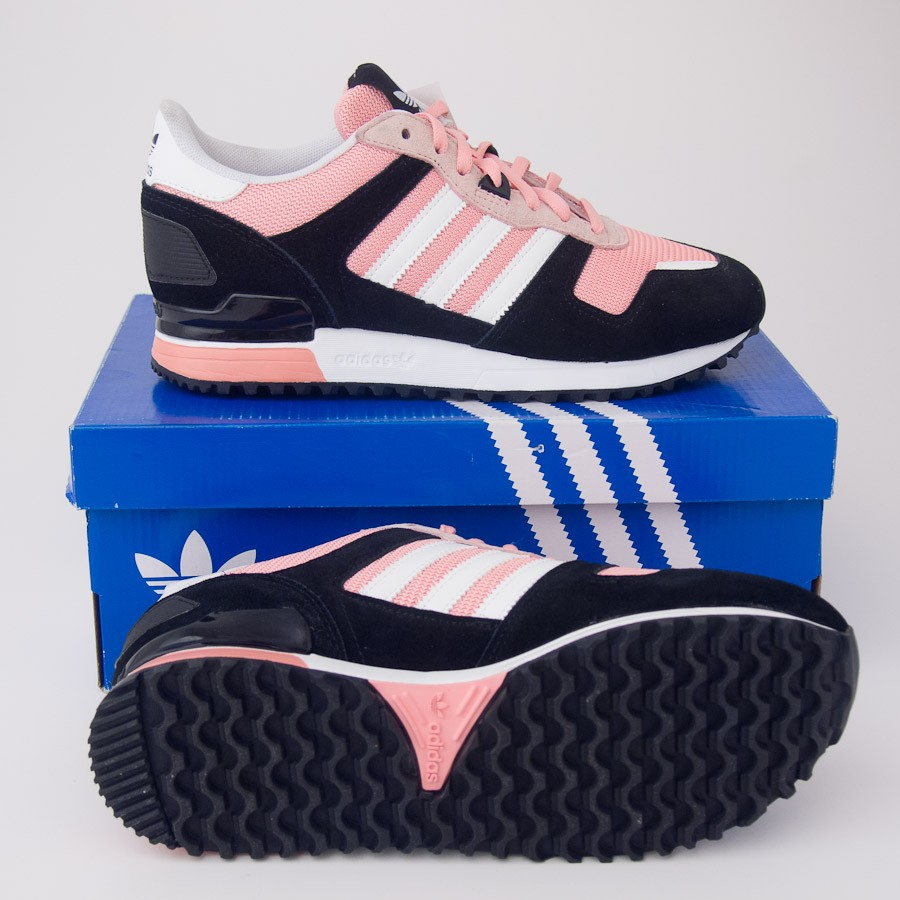 Adidas Originals ZX 700 adidas womenu0027s originals zx 700 w sneakers d65877 in black/faded rose OULBEBL