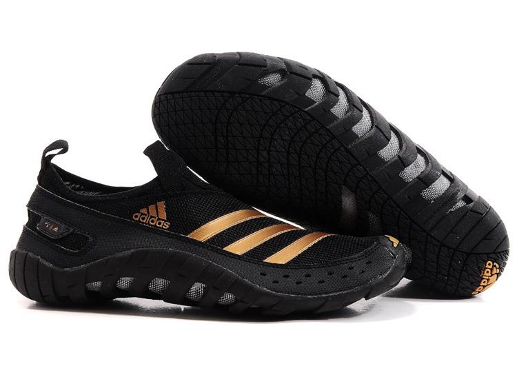 Adidas Outdoor menu0027s adidas originals jawpaw ii water outdoor running shoes black/gold  v23076 KUEVMED