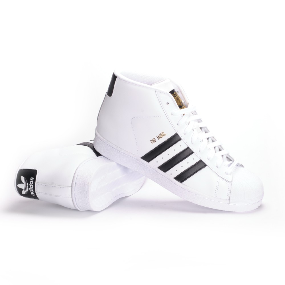 adidas pro model mid (white/core black/white) menu0027s skate shoes KUSSHBA