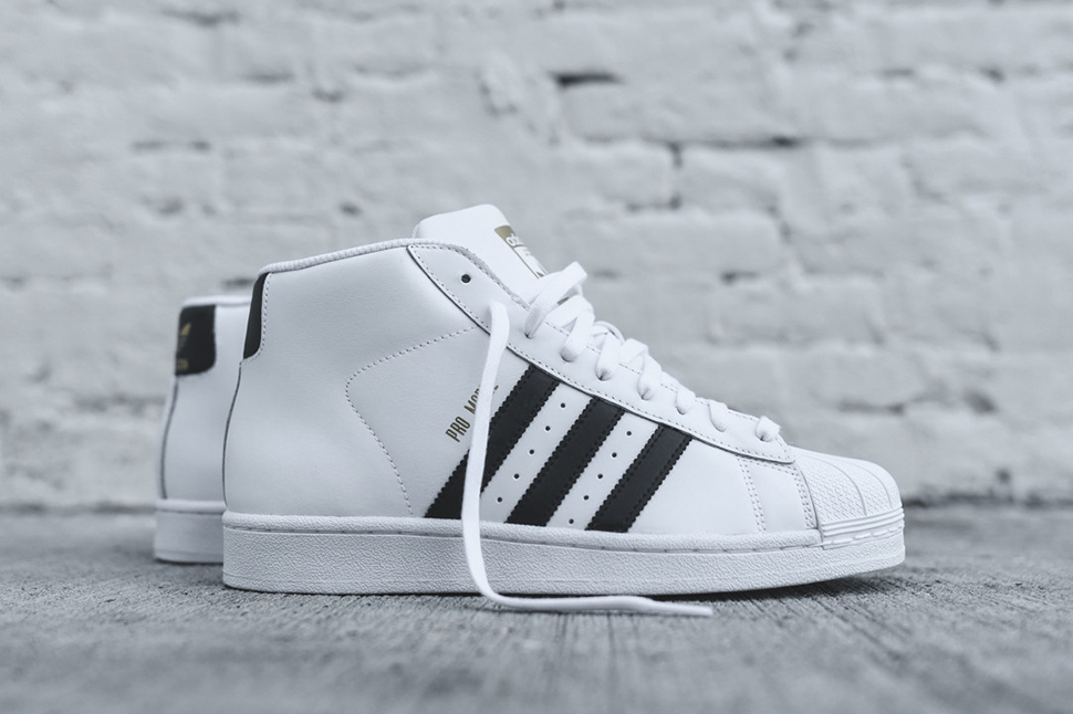 adidas pro model og white black NGACFHH