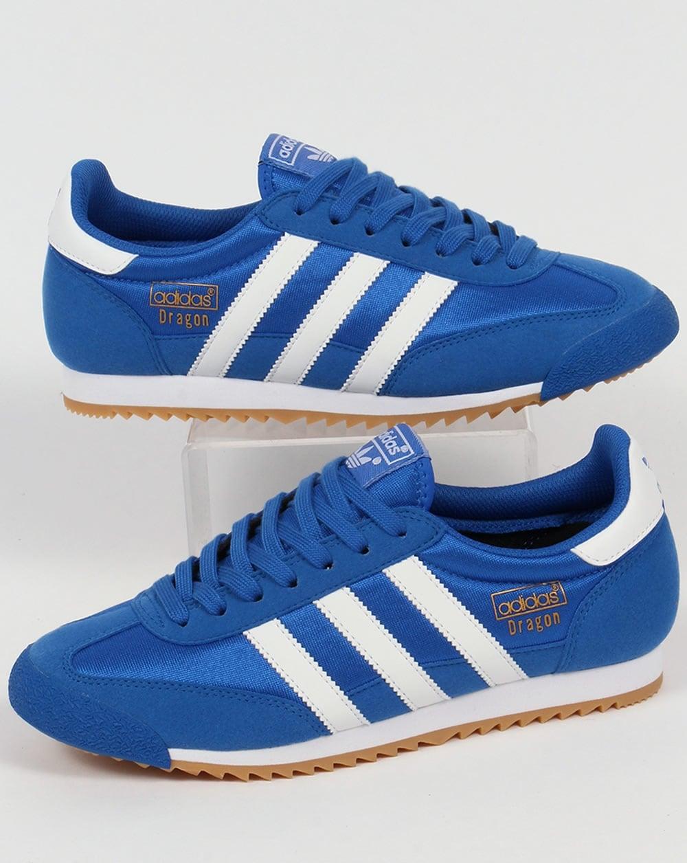 Adidas Retro adidas trainers adidas dragon trainers blue/white IIGRFPW