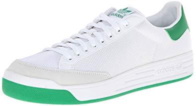 adidas rod laver adidas originals menu0027s rod laver sneaker, white/white/fairway, ... QGHCHUH
