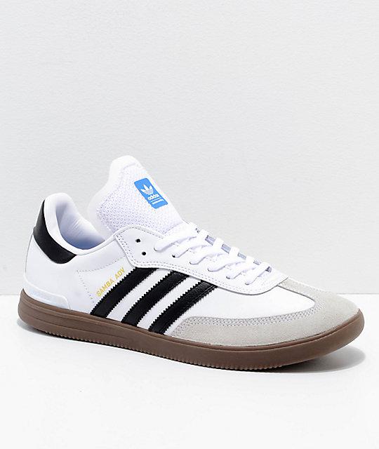adidas samba adv white, black u0026 gum shoes ... DWTWXXO