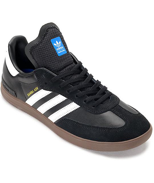 adidas samba shoes adidas samba adv black, white u0026 gum shoes ... CJSZVEC