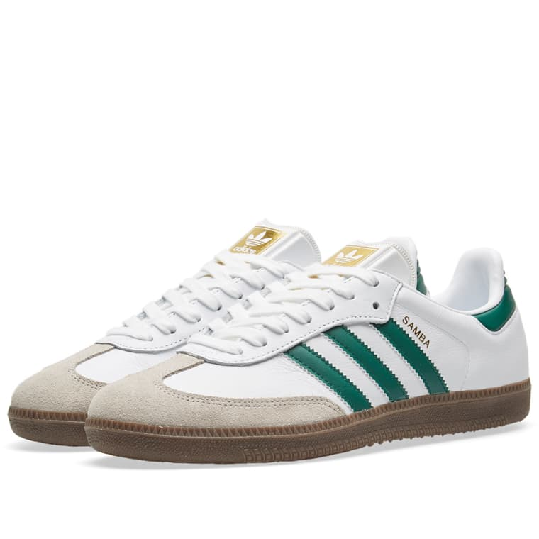 adidas samba white, green u0026 clear granite 1 FGPMORY