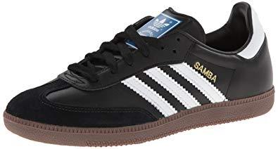 adidas sambas adidas originals menu0027s samba soccer-inspired sneaker,black/white/gum,14 SJOGGCY
