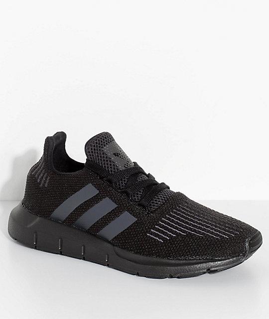 Adidas Shoes for Kids adidas kids swift run core u0026 utility black shoes ... YEBQGIP