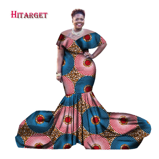 African Style Dresses 2017 african dresses for women bazin riche style femme african clothes lady  print wax XYBQSRU
