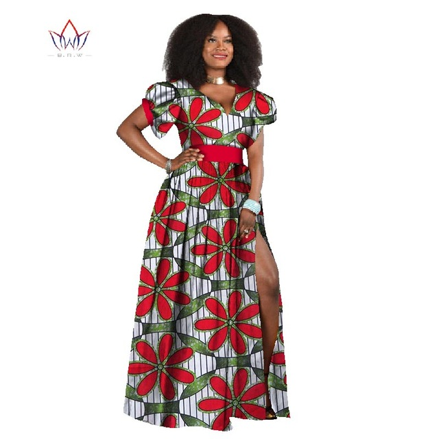 African Style Dresses dashiki africa fabric wax print dresses bazin riche plus size 6xl dresses  african style PQUIZHE