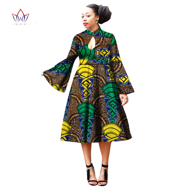 African Style Dresses summer africa wax print dresses cotton bazin rich african style clothing  for women plus YUMVBWG