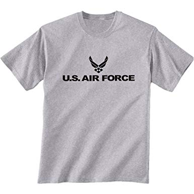 air force T shirts amazon.com: air force short sleeve t-shirt in gray: clothing FCEQVXR