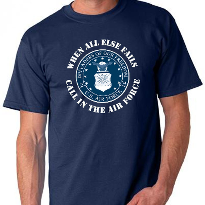 Working the air force T shirts