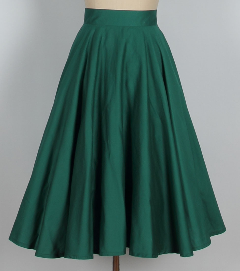 aline skirts a line retro skirt- green 015 CUAOZZN