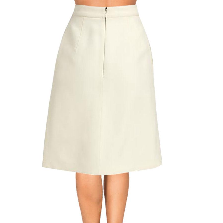 aline skirts cream inverted pleat a-line skirt YQRCKZG