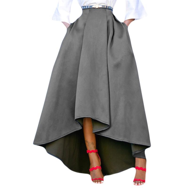 aline skirts ... koleshy - sebowel winter thicken warm a line skirt high-low women maxi  skirts XWGRUWQ