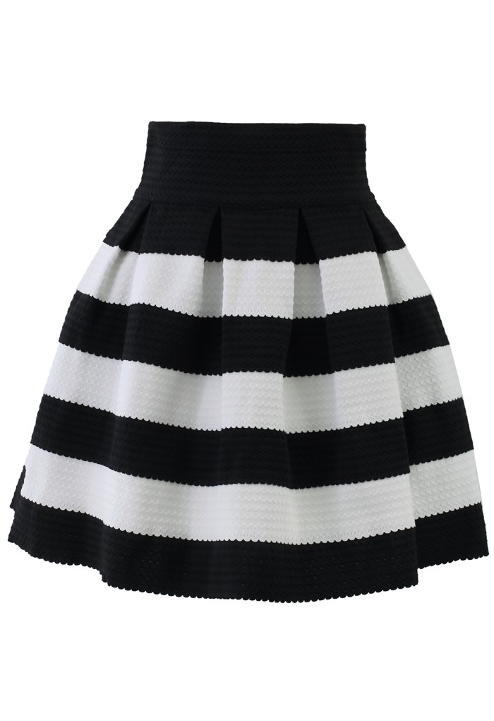 aline skirts more views. contrast strips a-line skirt WVPKRCU