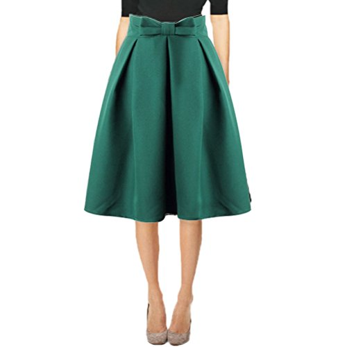 aline skirts women ladies a-line skirts casual pleated flared midi skirts dress HWQIEYF