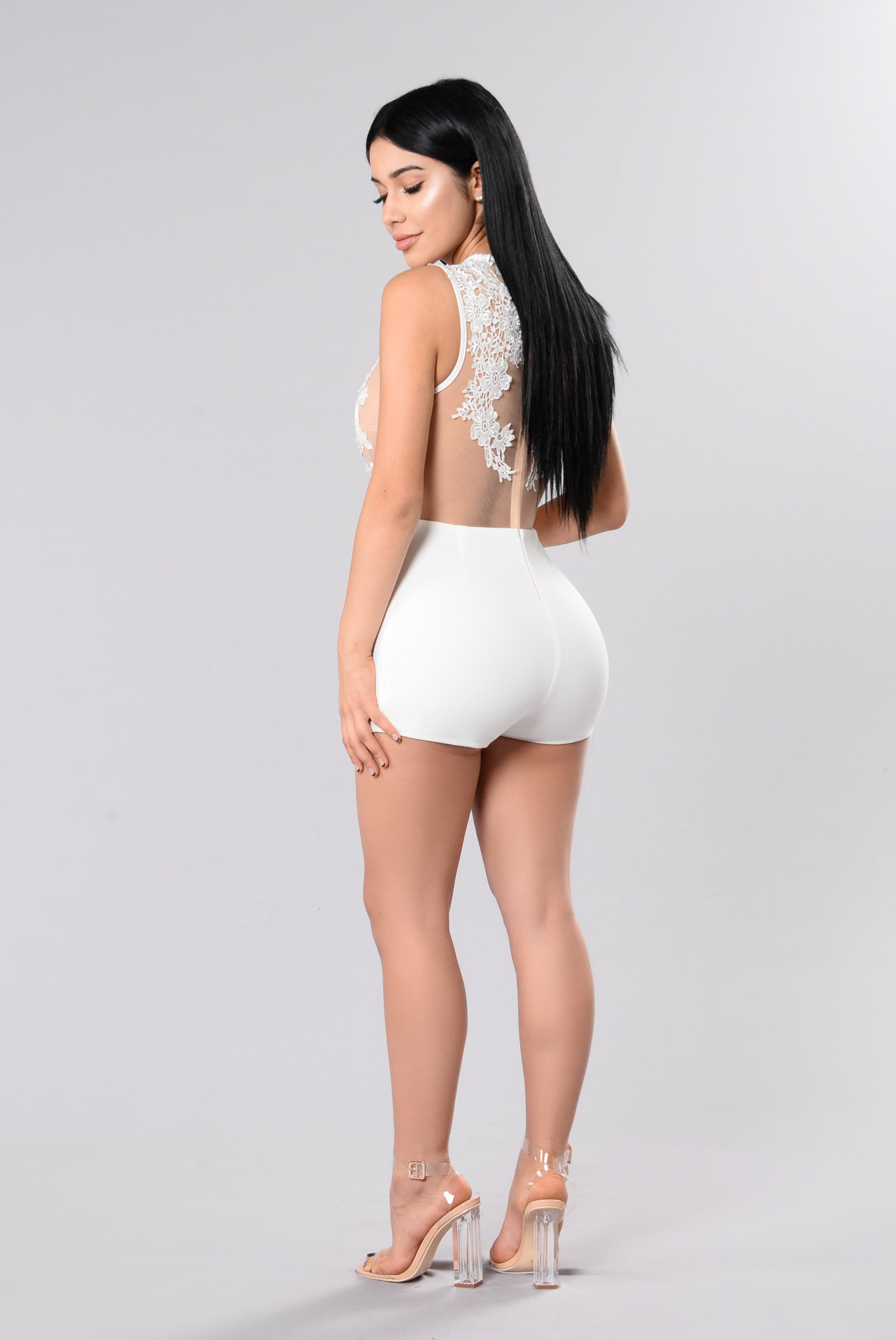 all white romper all the right places romper - white QHFBLWP