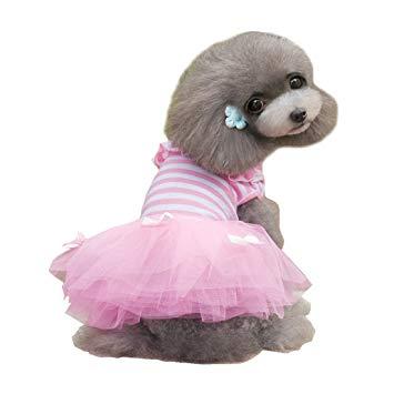 alroman dog dresses pets clothes pink pet dresses doggie skirt puppy clothes  dog clothes GMWDOLP
