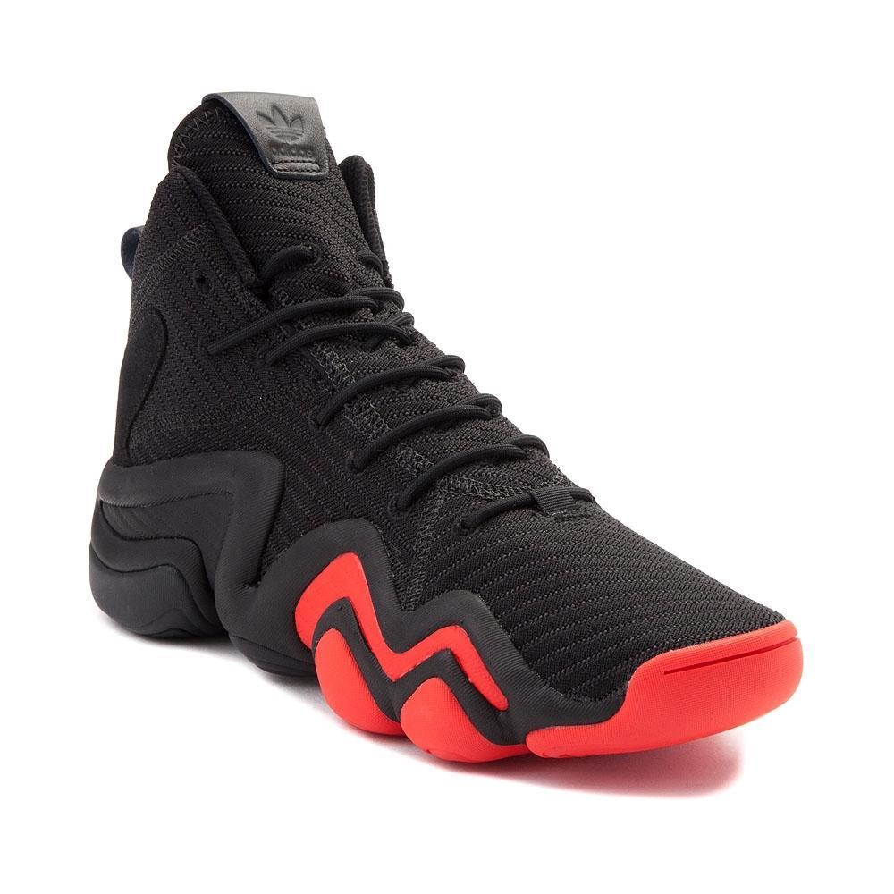 alternate view: mens adidas crazy 8 athletic shoe - black/red ... BMXYQFH