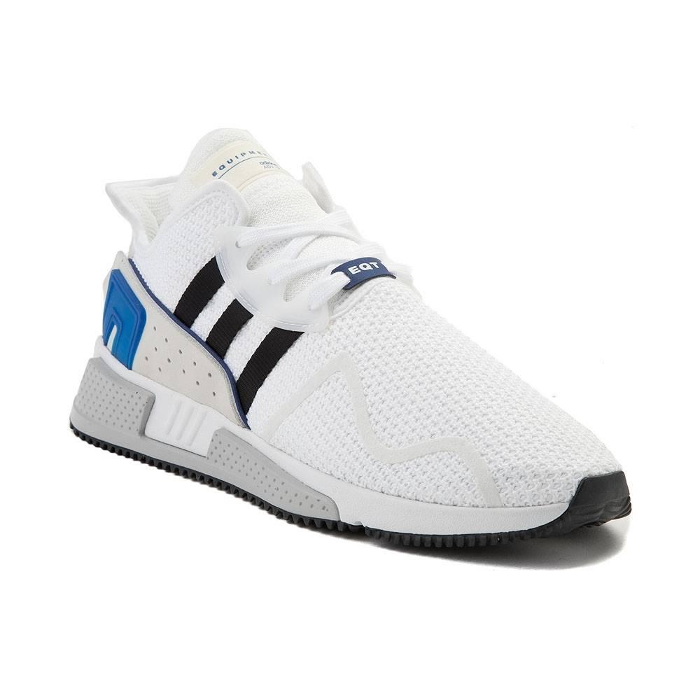alternate view: mens adidas eqt cushion adv athletic shoe -  white/black/blue ... HPMEDBK