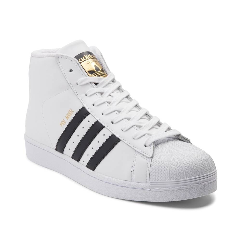 alternate view: mens adidas pro model athletic shoe - white/black ... KEJBNBE