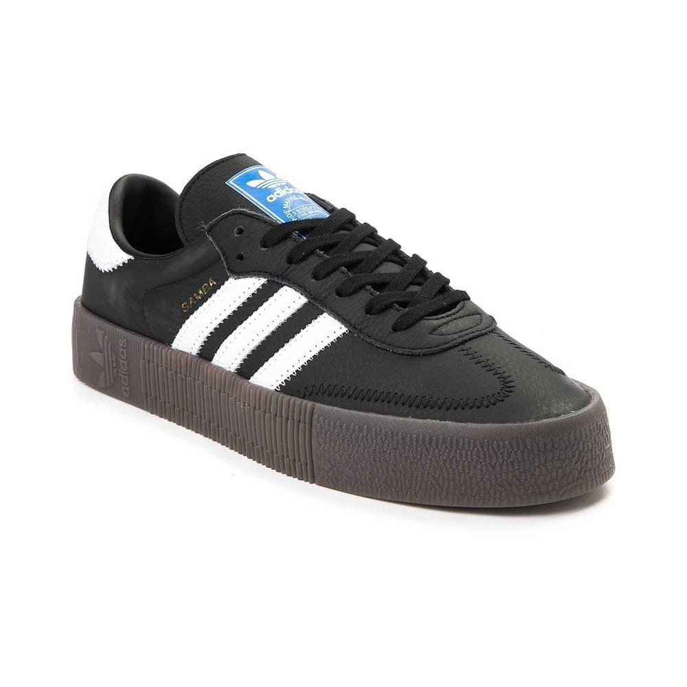 alternate view: womens adidas samba rose athletic shoe - black/white/gum ... BAERHVA