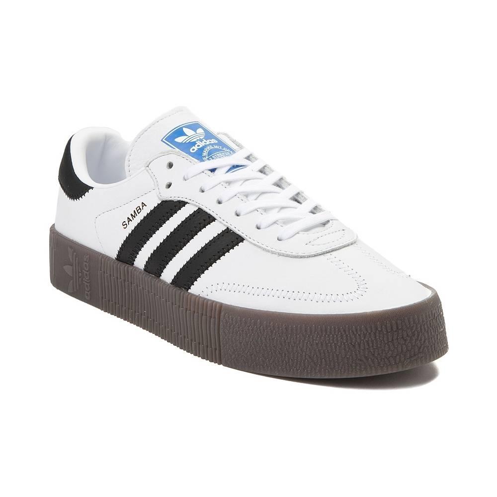 alternate view: womens adidas samba rose athletic shoe - white/black/gum ... QWTMPZD
