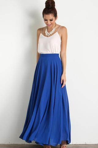 amelia full blue maxi skirt OJOYIJG
