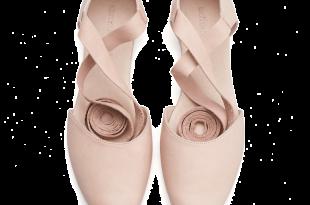 ana, blush pink leather ballerina shoes LJVXHQA