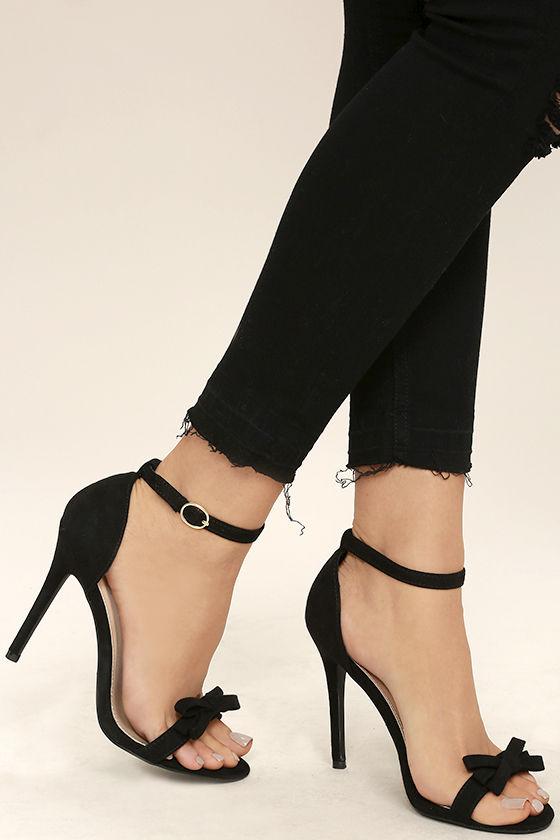 ankle strap shoes babette black suede ankle strap heels NCTUBMV