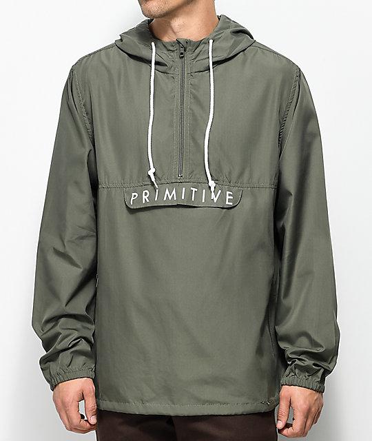 anorak jackets primitive staten olive anorak jacket ... TDMWAKK