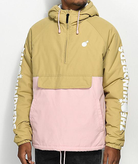 anorak jackets the hundreds dell 2 tan u0026 pink anorak jacket ... UNISZFA