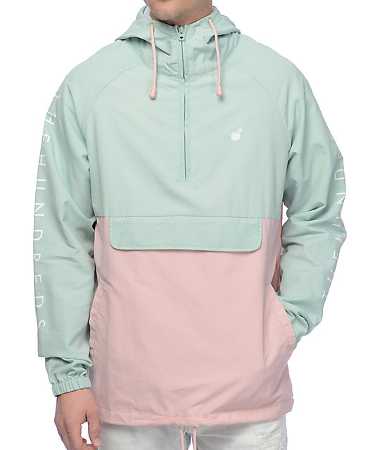 anorak jackets the hundreds dell turquoise anorak jacket ... TBKGSQT